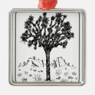 Joshua-Baum (Grenze) Quadratisches Silberfarbenes Ornament