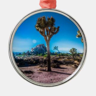 Joshua-Baum-Nationalpark Rundes Silberfarbenes Ornament