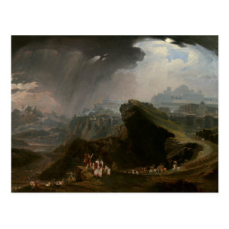 Joshua und der Kampf bei Gibeon Postkarte