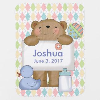 Joshuas gute Nachrichten tragen personalisierte Kinderwagendecke