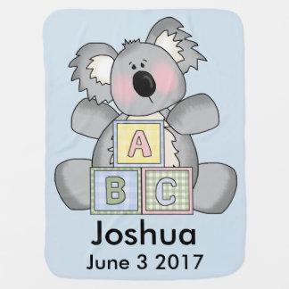 Joshuas personalisierter Koala Babydecke