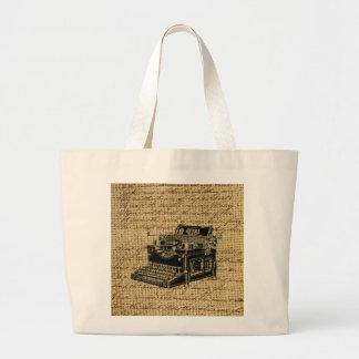 Journalist scripts antike Schreibmaschine der Jumbo Stoffbeutel