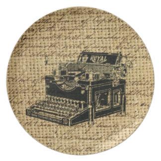 Journalist scripts antike Schreibmaschine der Teller