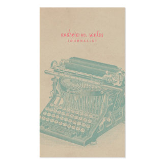 Journalist-Vintage Schreibmaschinen-cooles Visitenkarten Vorlage