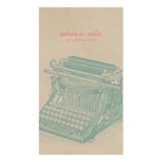 Journalist-Vintage Schreibmaschinen-cooles Visitenkarten