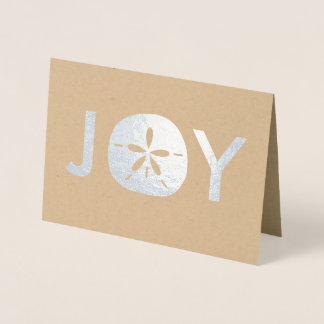 Joy Sand Dollar Beach Christmas Holiday Greetings