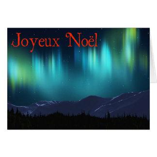 Joyeux Noёl - Aurora Borealis Karte