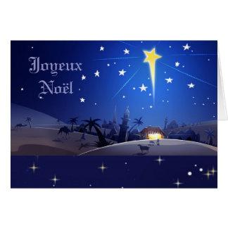 Joyeux Noël. Französische Weihnachtskarte Karte