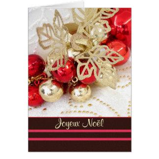 Joyeux Noël französisches Weihnachten - Flitter Karte