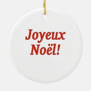 frohe weihnachten auf franz sisch ornamente