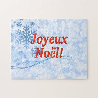 Joyeux Noël! Frohe Weihnachten in französischem Rf Puzzle