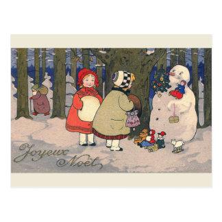 """""""Joyeux Weihnachten-"""" französische Vintage Postkarte"""