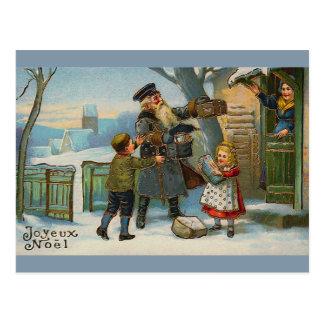 """""""Joyeux Weihnachten-Vintage Weihnachtskarte """" Postkarte"""