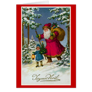 """""""Joyeux Weihnachten-"""" Vintages französisches Karte"""