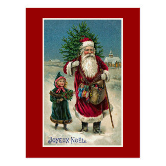 """""""Joyeux Weihnachten-"""" Vintages französisches Postkarte"""