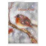 joyeux Weihnachtenaquarell Mitteilungskarte
