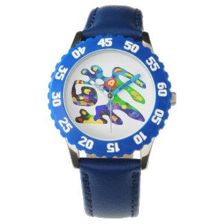 Joyfull colourfull lustige Uhr