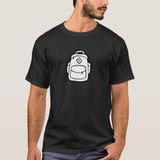 JQ Schwarz-gerade Rucksack T-Shirt