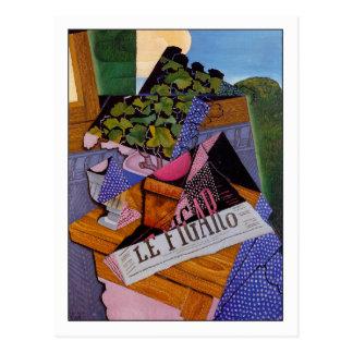 "Juan Gris ""ein Topf Pelargonien "" Postkarte"