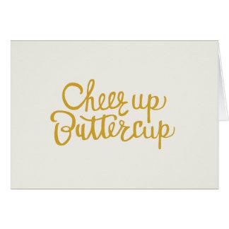 Jubeln Sie oben Butterblume-Hand beschrifteter Karte