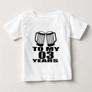 Jubeln Sie zu meinen 03 Jahren Geburtstags-zu Baby T-shirt