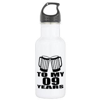 Jubeln Sie zu meinen 09 Jahren Geburtstags-zu Edelstahlflasche