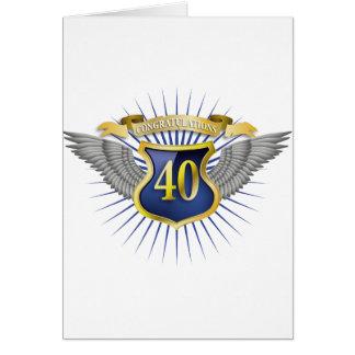 Jubiläum 40 karte