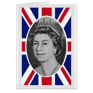 Jubiläum-Porträt der Königin-Elizabeth Karte