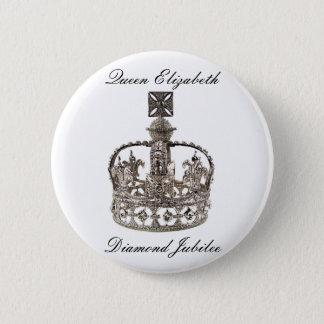Jubliäum-Knopf der Königin-Elizabeth Runder Button 5,7 Cm
