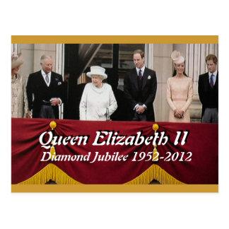 Jubliäum-Königsfamilie-Porträtpostkarte Postkarte