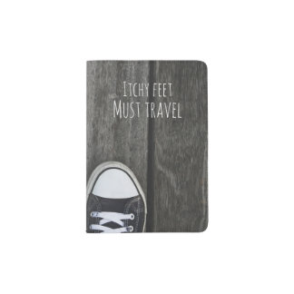 Juckende Füße, müssen reisen Passhülle