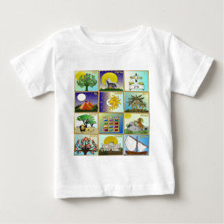 Judaika 12 Stämme der Israel-Kunst-Platten Baby T-shirt