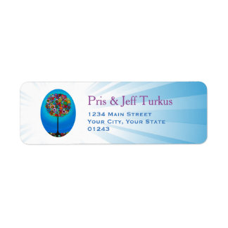 Judaika-Baum des Lebens Rücksendeetiketten