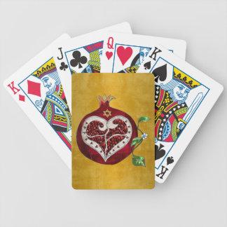 Judaika-Granatapfel-Herz Chanukka Rosh Hashanah Bicycle Spielkarten