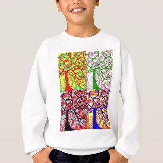 Judaika Hamsa Baum des Leben-Sonnenaufgangs Sweatshirt