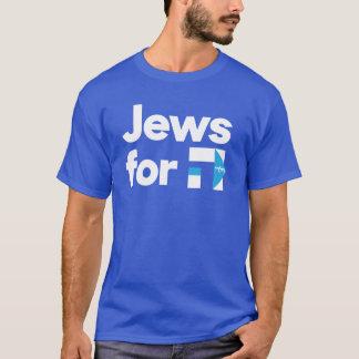 Juden für blaues hebräisches Shirt H Hillary