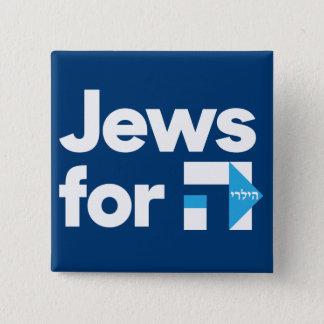 Juden für Hillary-Knopf Quadratischer Button 5,1 Cm
