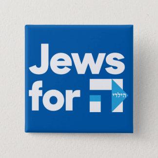 Juden für quadratischen Knopf Hillary Quadratischer Button 5,1 Cm