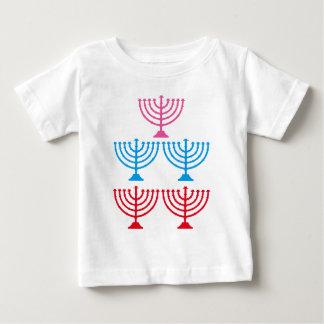 Juden jüdischer Menorah Scheinkandelaber Baby T-shirt