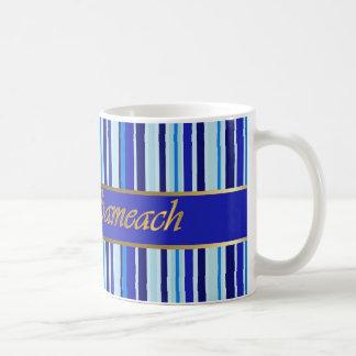 Jüdische Feiertags-blaue Streifen-Tasse