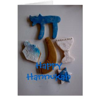 jüdische Feiertagsplätzchen, glückliches Hannukah Karte