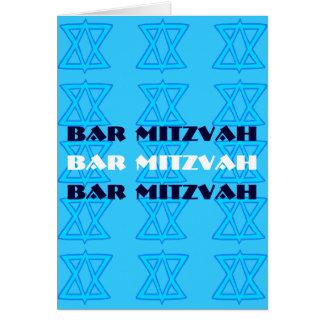 Jüdische Karte Stern BAR MITZVAH