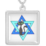 Jüdische Katzen-Sterne Personalisierter Schmuck