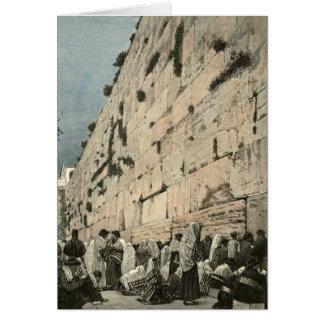 Jüdische Klagemauer Kotel Buraq Jerusalem Vintag Karte