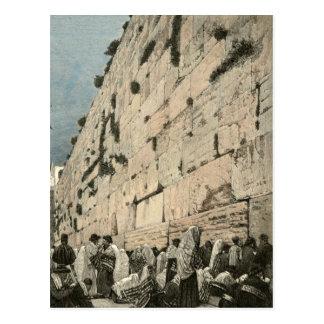 Jüdische Klagemauer Kotel Buraq Jerusalem Vintag Postkarte