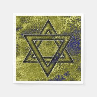 Jüdische verzierenidee, Davidsstern Serviette