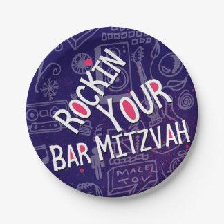 Jüdischer Bar Mitzvah Dekoration-Papier Teller