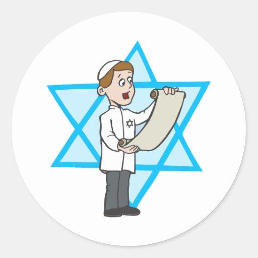 Jüdischer Junge Aufkleber