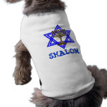 Jüdischer SHALOM Hundehaustier-T - Shirt Hundebekleidung