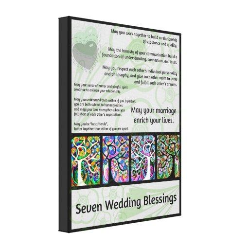 Jüdischer sieben Wedding Segen-Baum des Lebens Ham Galerie Falt Leinwand